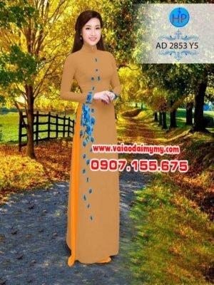 vải áo dài in hình hoa Lan đẹp (316)