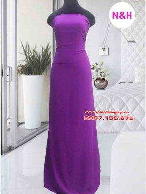 vải áo dài trơn màu tím hoa cà