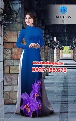 Vải áo dài hoa Lan AD 1565