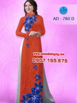 Vải áo dài hoa Lan AD 780