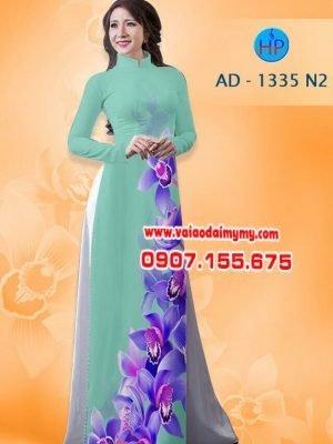 Vải áo dài hoa Lan AD 1335