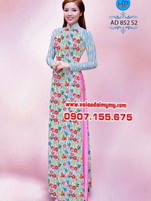 Vải áo dài in hoa nhỏ đẹp AD 852
