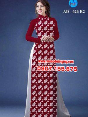 Vải áo dài hoa nhỏ toàn thân AD 626