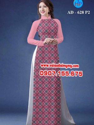 Vải áo dài hoa nhỏ toàn thân AD 628