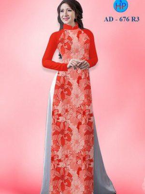 Vải áo dài hoa nhỏ toàn thân AD 676