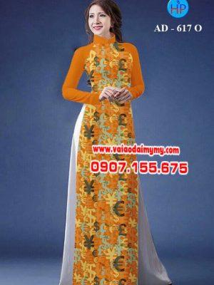 Vải áo dài hoa nhỏ toàn thân AD 617
