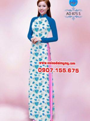 Vải áo dài hoa nhỏ toàn thân AD 875