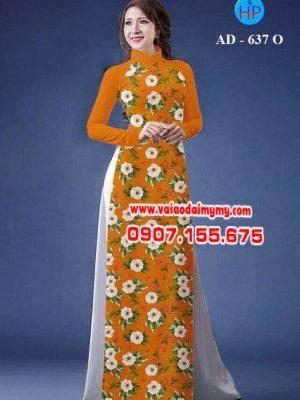 Vải áo dài hoa nhỏ toàn thân AD 637