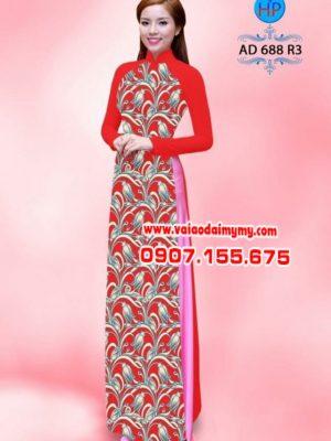 Vải áo dài hoa nhí toàn thân AD 688