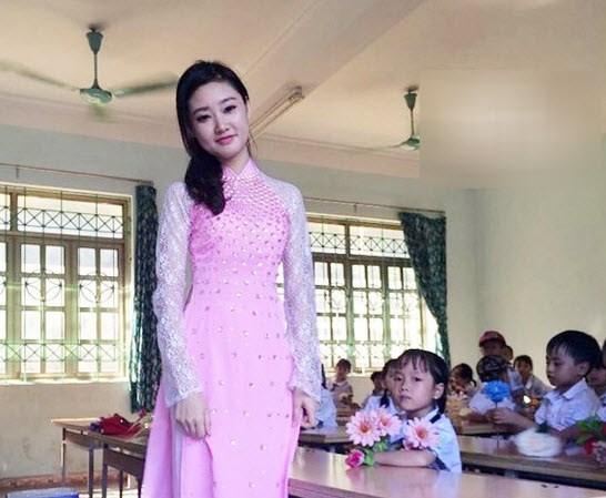 áo dài giáo viên