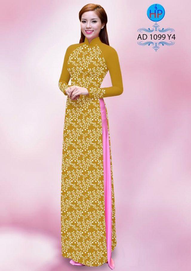 Vải áo dài hoa nhỏ nhí toàn thân AD 1099