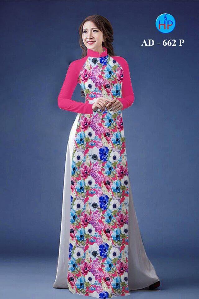 Vải áo dài hoa nhỏ nhí toàn thân AD 662