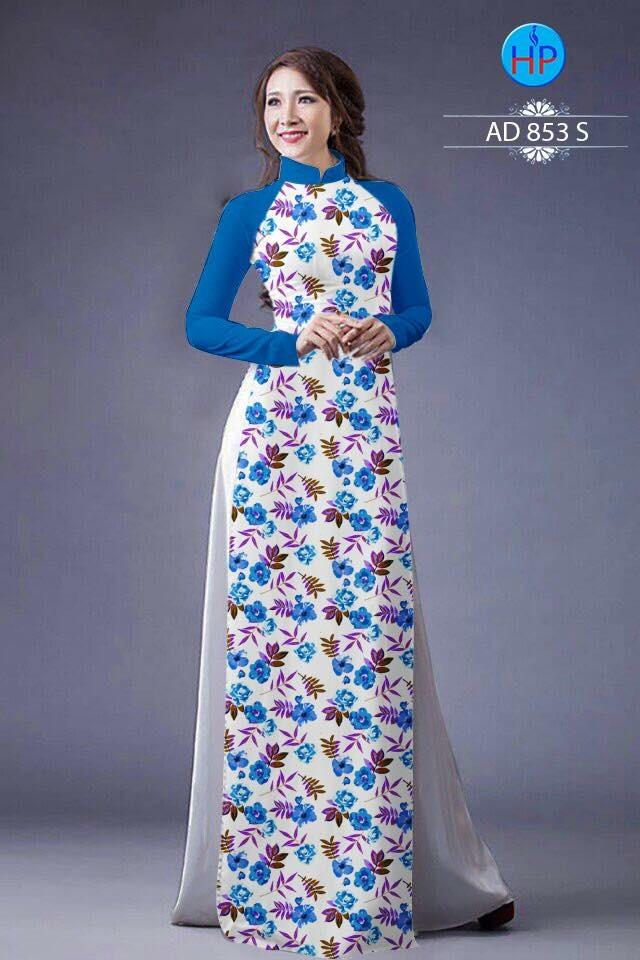 Vải áo dài hoa nhỏ nhí toàn thân AD 853