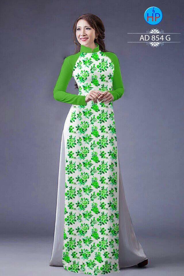 Vải áo dài hoa nhỏ nhí toàn thân AD 854