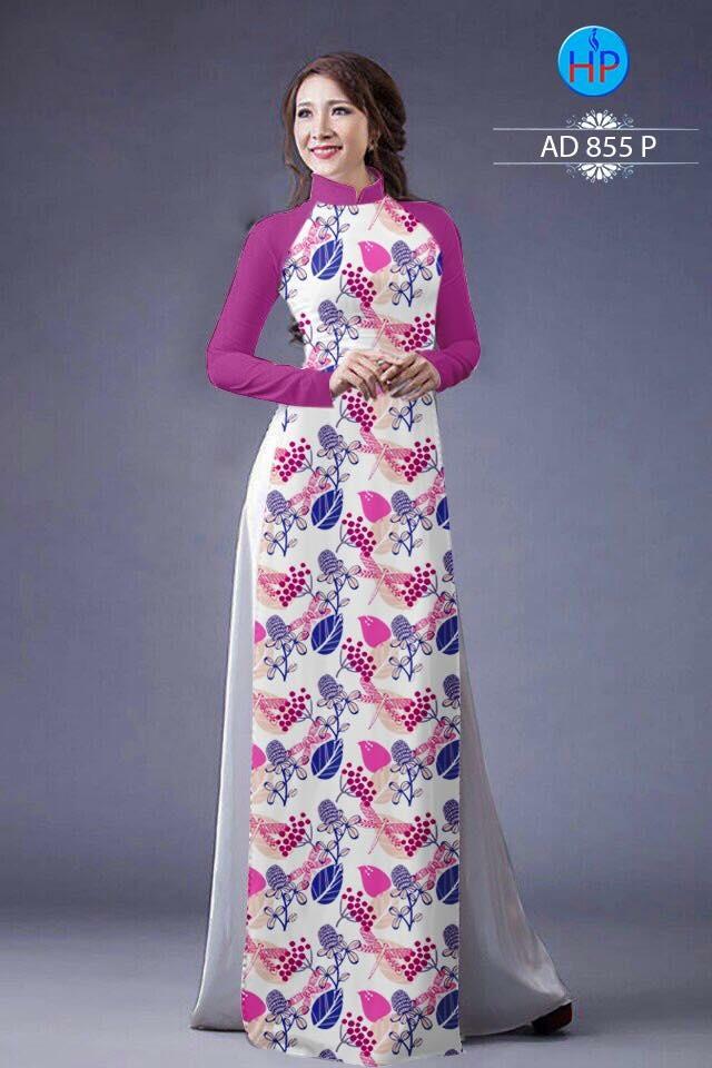 Vải áo dài hoa nhỏ nhí toàn thân AD 855