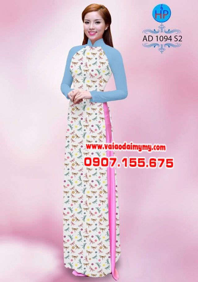Vải áo dài hoa nhỏ nhí toàn thân AD 1094