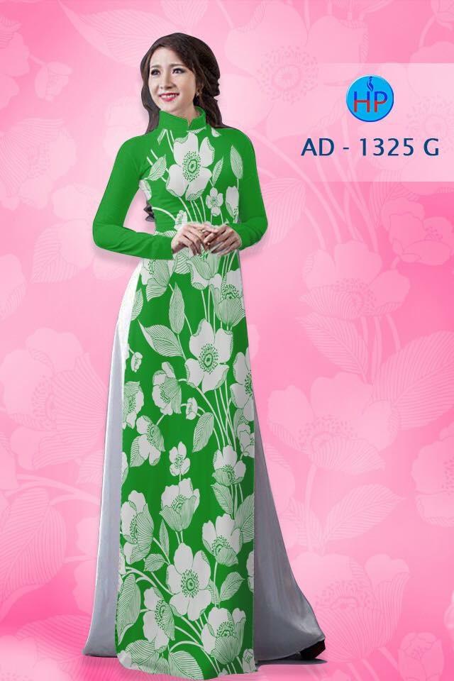 Vải áo dài hoa nhỏ nhí toàn thân AD 1325