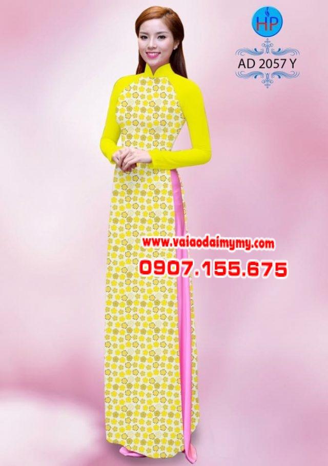 Vải áo dài hoa nhỏ nhí toàn thân AD 2057