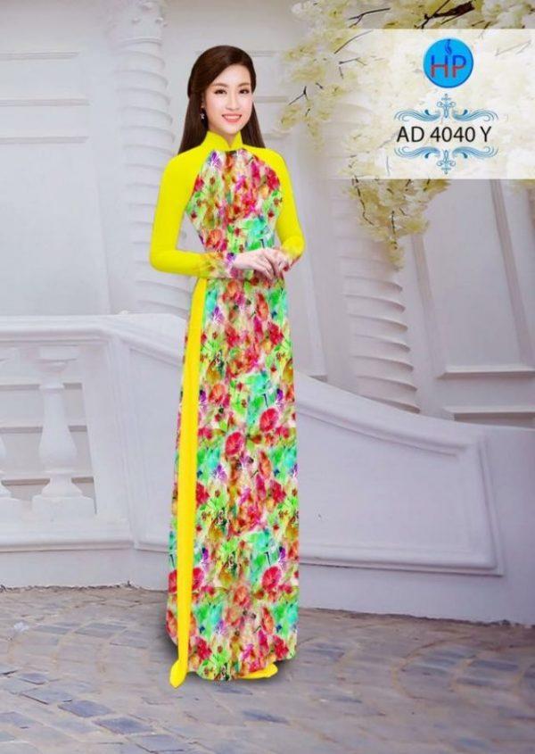Áo dài thái tuấn hoa nhỏ nhò toàn thân đẹp (748)