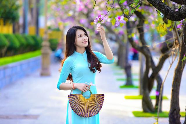 áo dài đẹp màu xanh