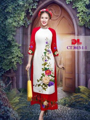 Vải áo dài cách tân bộ hình hoa hồng AD CT 3615 (1)
