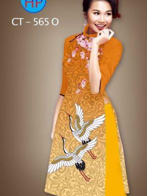Vải áo dài cách tân hình chim cò AD CT 565