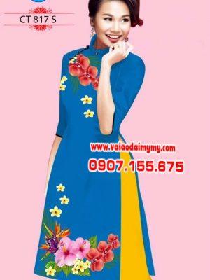 Vải áo dài cách tân hình hoa đẹp AD CT 817