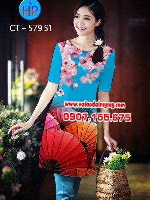 Vải áo dài cách tân hình hoa và dù AD CT 579