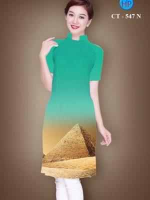 Vải áo dài cách tân hình kim tự tháp AD CT 547