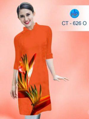 Vải áo dài cách tân in hình hoa đẹp AD CT 626 (1)