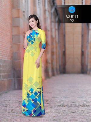 Vải áo dài hoa văn lập thể AD B171