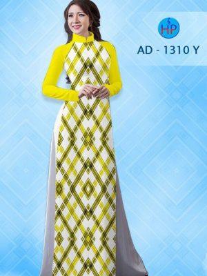 Vải áo dài hình hoa văn lập thể AD 1310
