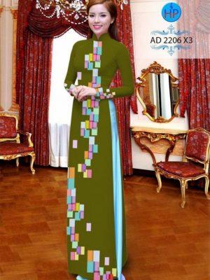 Vải áo dài hoa văn lập thể AD 2206