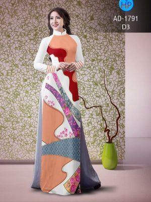 Vải áo dài hoa văn lập thể AD 1791