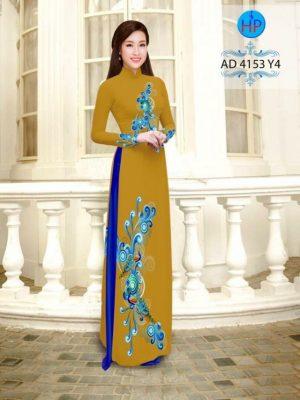 Vải áo dài hình đuôi công AD 4153