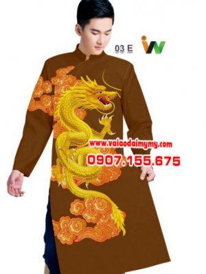 vải áo dài cho nam in hình con rồng đẹp (1)