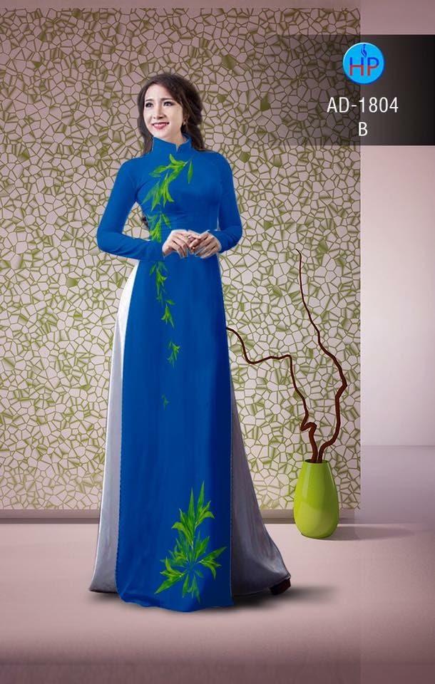 Vải áo dài hình lá AD 1804
