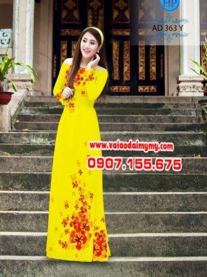 Vải áo dài hoa phượng AD 363