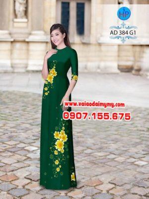 Vải áo dài hoa phượng AD 384