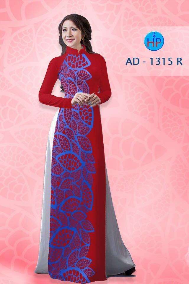 Vải áo dài hình lá AD 643