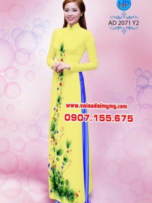 Vải áo dài hoa dọc toàn thân AD 2071