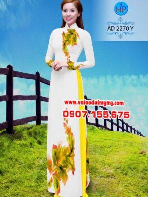 Vải áo dài hình lá AD 2270