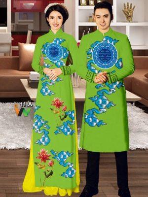 Vải áo dài cặp đôi AD IW 11