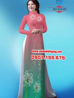 Vải áo dài hình hoa bồ công anh AD 910