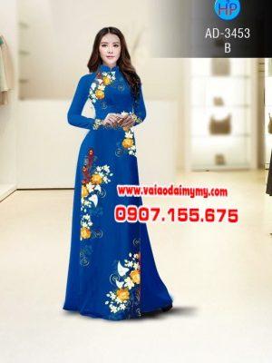 Vải áo dài hoa Tulip AD 3453