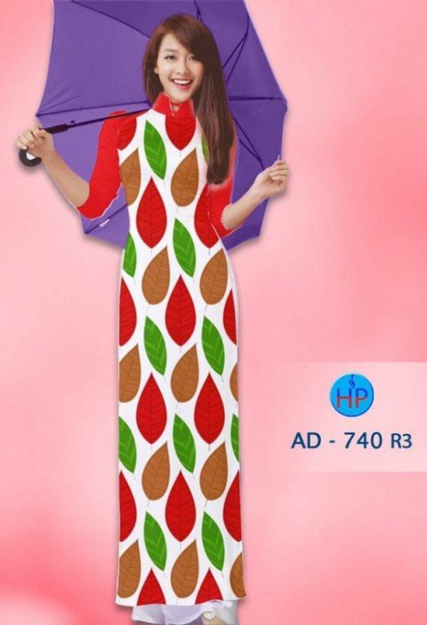 Vải áo dài hình lá AD 740