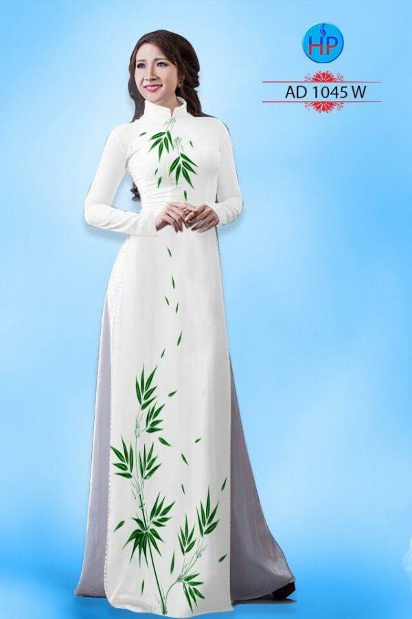 Vải áo dài hình là trúc AD 1045