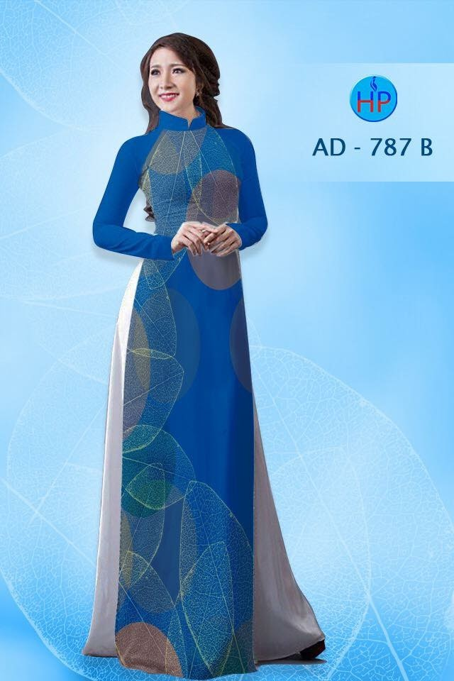 Vải áo dài hình lá AD 787