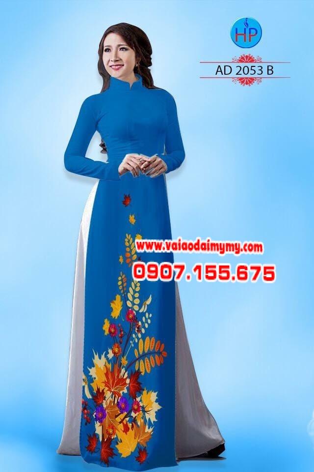 Vải áo dài hình lá AD 2053