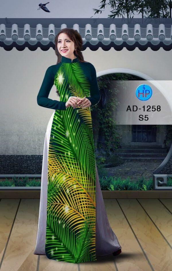 Vải áo dài hình lá AD 1258